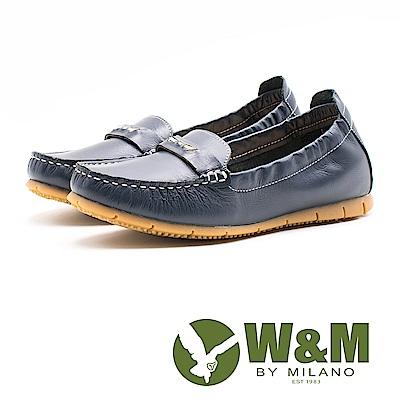 W&M 金屬一字休閒女鞋-藍(另有白)
