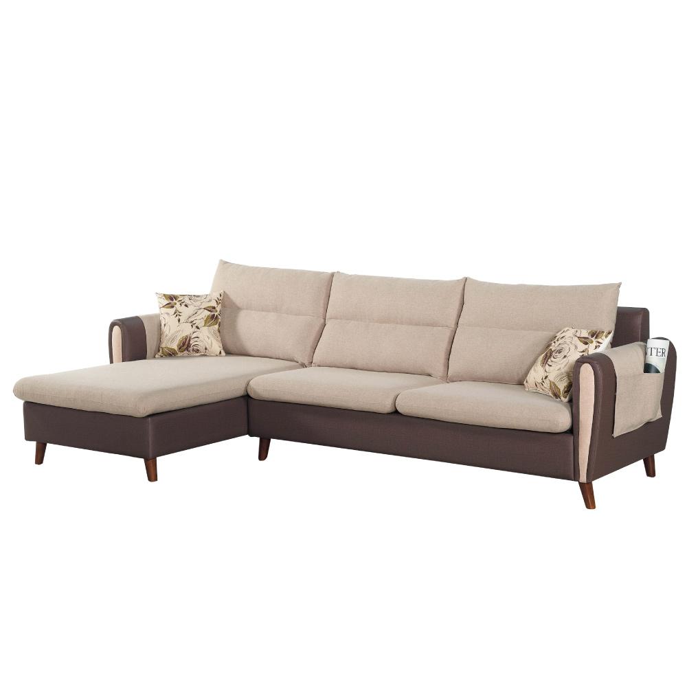 文創集 艾瑪雙色L型沙發組合(左&右二向可選)-282x158x77cm-免組