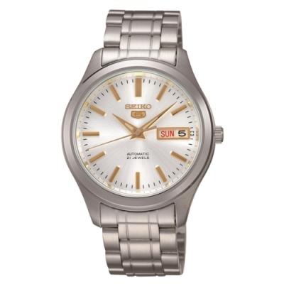 SEIKO 精工五號  5號盾牌日曆機械錶(SNKM43