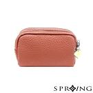SPRING-太陽的三層多用鑰匙零錢包-花兒粉橘