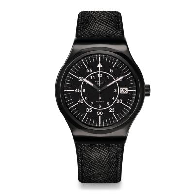 Swatch 51號星球機械錶 SISTEM SLATE 黑洞奇航手錶