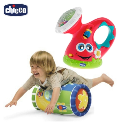 chicco-音樂滾筒+小小園丁歡樂澆水壺