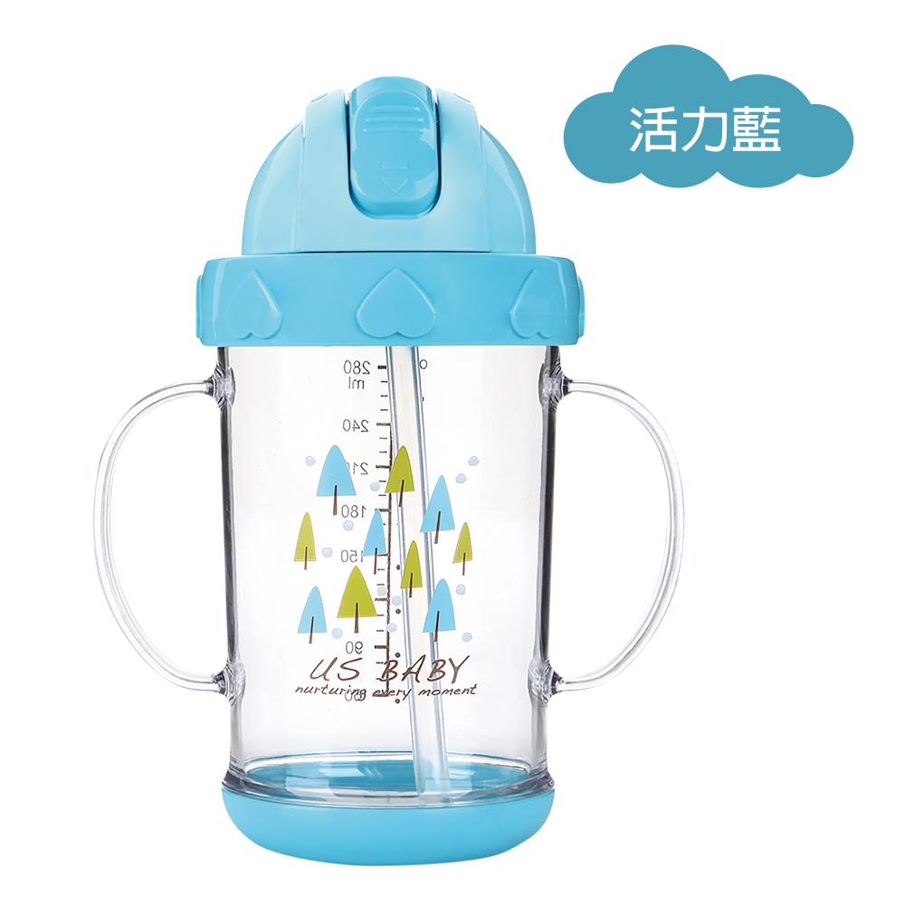 任選-優生馬卡龍森活學飲杯280ml-藍