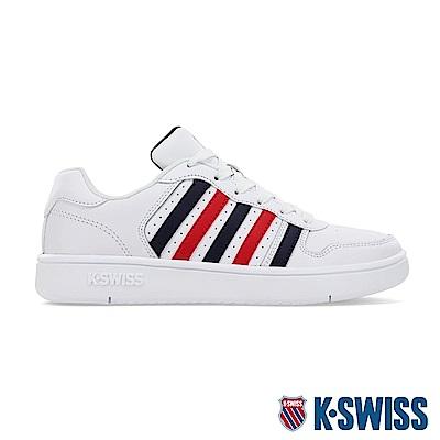 K-SWISS Court Palisades時尚運動鞋-男-白/藍/紅