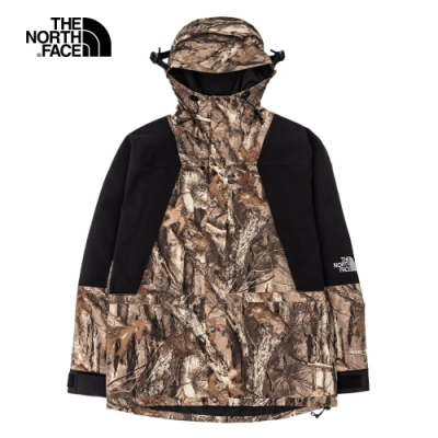 【經典ICON】The North Face北面男女款棕色印花防水透氣衝鋒衣|4R52047