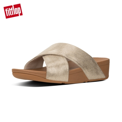 FitFlop LULU CROSS SLIDE SANDALS 金色