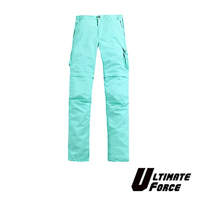Ultimate Force「衝鋒」女款兩截速乾工作褲-藍色