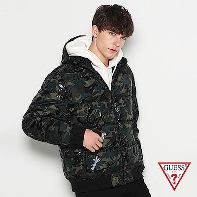GUESS-男裝-鋪棉連帽外套-迷彩 原價5490