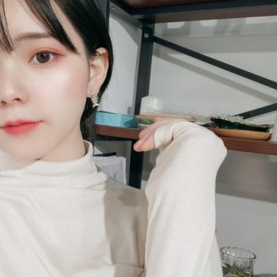 梨花HaNA 韓國925銀針貓系少女心貓和魚兒耳環