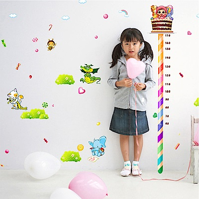 半島良品 DIY無痕壁貼-糖果身高貼 XL8082 60x90cm