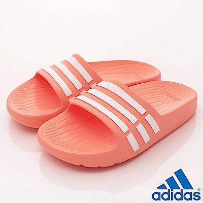 adidas童鞋 經典運動拖鞋 NI384粉橘(小童段)