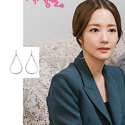 梨花HaNA 韓國925銀韓劇朴敏英她的私生活鏤空几何耳環