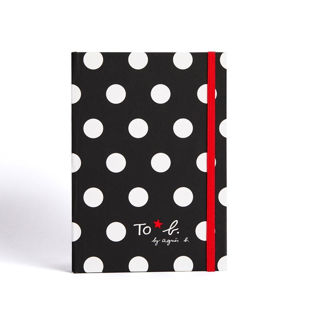 To b.黑色點點款空白筆記本