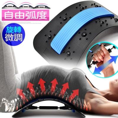保健腰椎牽引器(多段高低)   背靠腰椎拉背器.背部伸展器.防駝背護腰挺背板