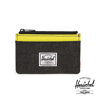 Herschel Oscar 零錢卡夾-黃色拼接