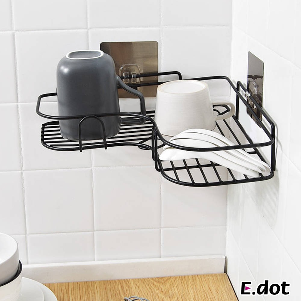 E.dot 轉角三角型浴室收納瀝水置物架