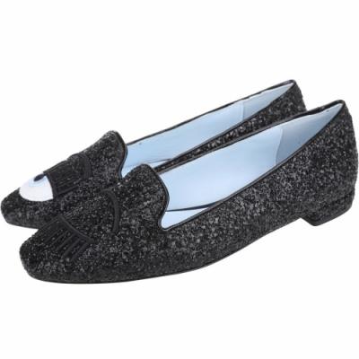 [時髦方頭款 六千有找] Chiara Ferragni Glitter 刺繡眨眼亮片方頭樂福鞋-2色可選