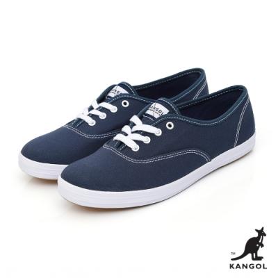 【KANGOL】經典潮流帆布鞋-女-藍