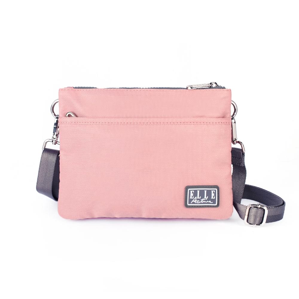 ELLE Active 透視網布系列-側背包/斜背包/包中包-小-粉紅色