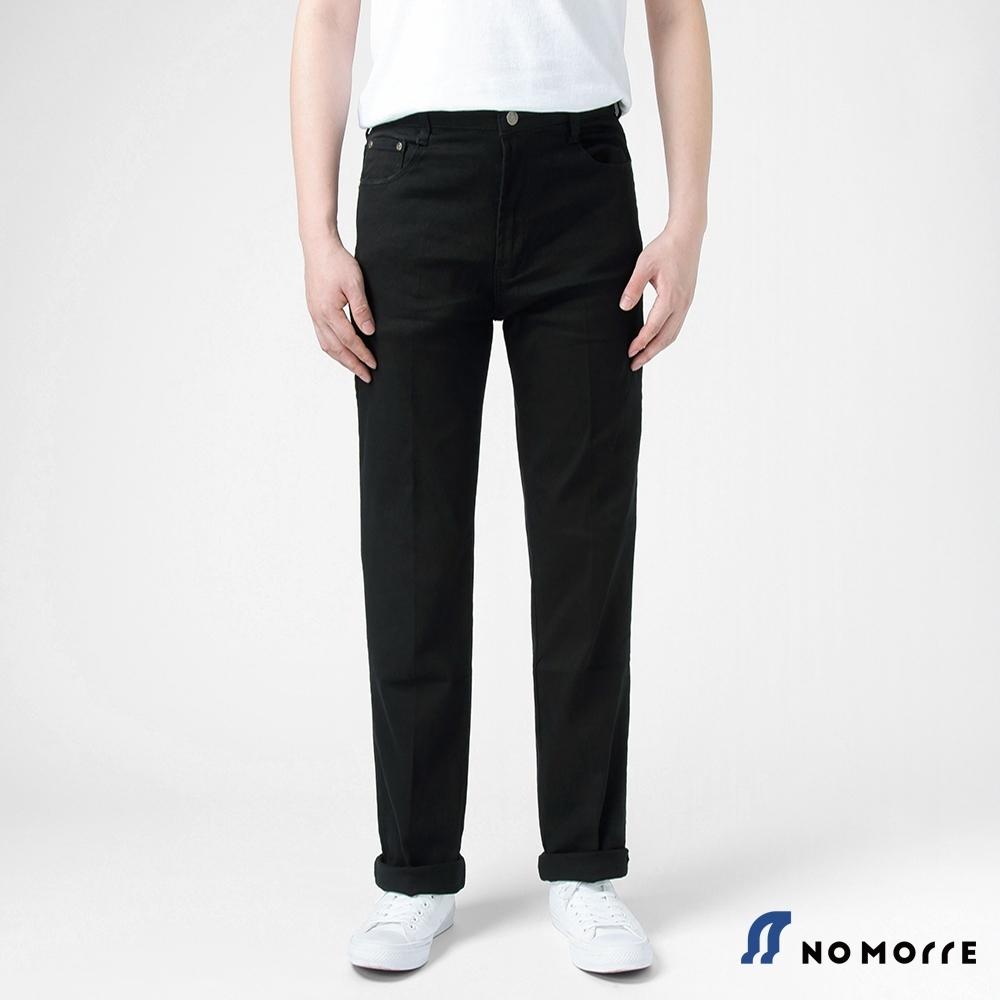 NoMorre 高磅數耐磨黑色直筒工作褲(無側袋)
