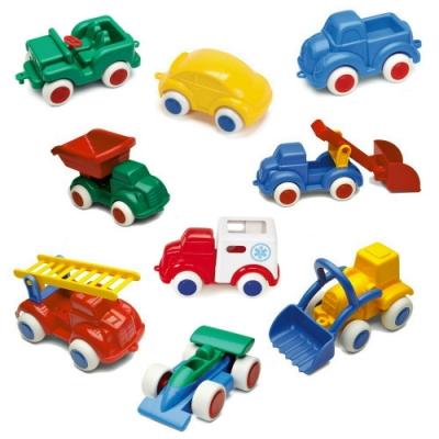 【時時樂限定】瑞典Viking Toys維京玩具-彩色玩具車(14cm)4入組(款式隨機)