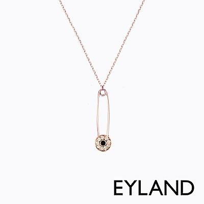Eyland英國倫敦 DARIA 玫瑰金水晶吊墜迴紋針項鍊