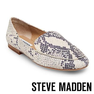 STEVE MADDEN-DORA 麂皮手縫線樂福鞋-蛇紋