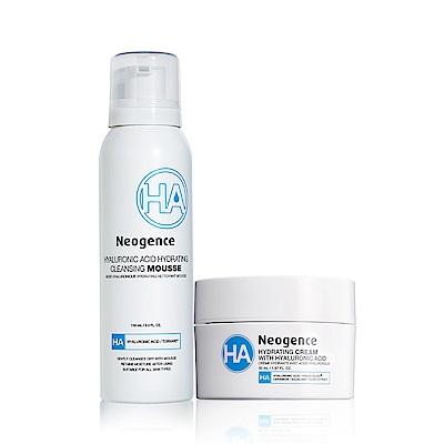 Neogence霓淨思 玻尿酸保濕潔顏慕絲+玻尿酸保濕乳霜