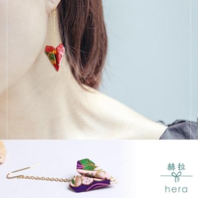 Hera赫拉-手工和風摺紙飛機耳環一對-3色