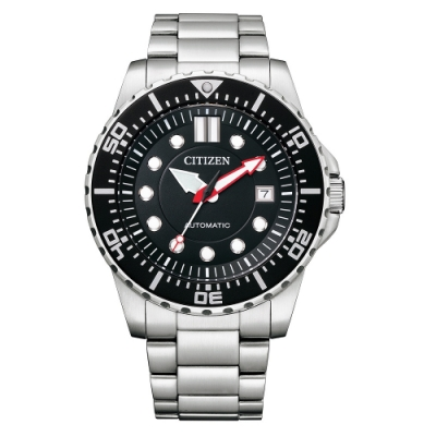 CITIZEN 星辰Mechanical經典黑面機械腕錶NJ0120-81E
