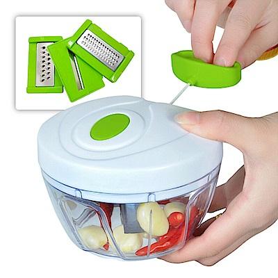 手動拉繩碎菜蔬果料理器附刨絲器(UL-670)