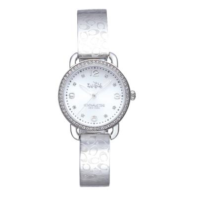 COACH 漫步巴黎時尚手鐲腕錶/銀14502353