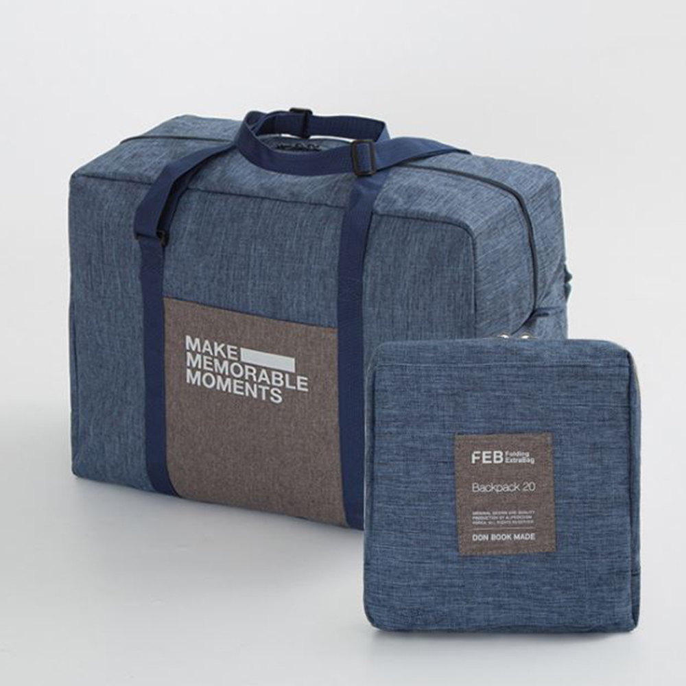 【暢貨出清】JIDA 復古大容量可摺疊拉桿收納旅行袋(3色)