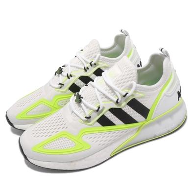 adidas 休閒鞋 ZX 2K Boost 男女鞋 愛迪達 三葉草 避震 緩衝 緩震 碎花 白 黃 GY2630