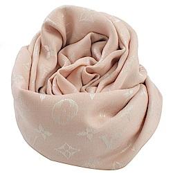 LV M72046 經典花紋羊毛披肩大方巾(粉紅色)