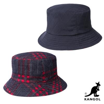KANGOL-雙層漁夫帽-深藍色