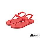 QWQ綁帶涼鞋經典素色-九色任選