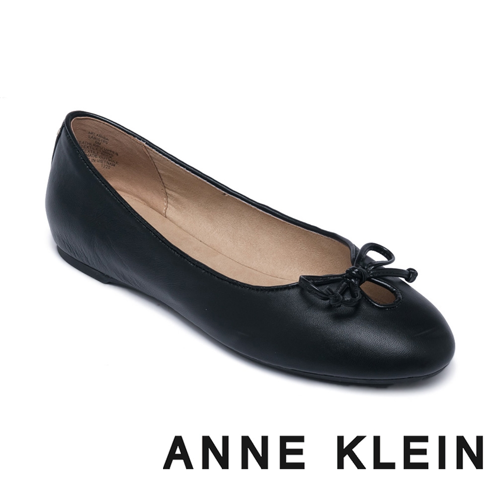 ANNE KLEIN-LARISA 舒適百搭蝴蝶結平底鞋-黑色