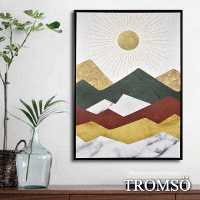 TROMSO 時尚風華抽象有框畫大幅-暖陽山岳W966