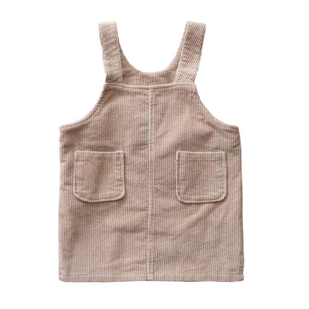 童裝 坑條雙口袋背心洋裝 TATA KIDS