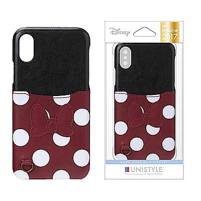 iPhone X 手機殼 迪士尼 正版授權 皮革/插卡/口袋 硬殼 5.8吋-米...