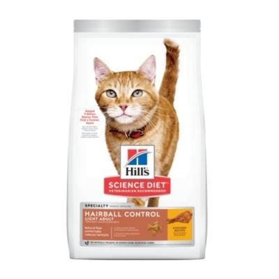 Hill′s希爾思-成貓毛球控制低卡-雞肉特調食譜 7lb.3.17kg (8882)