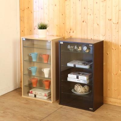 佳美 台灣製強化玻璃收納置物櫃 展示櫃 公仔櫃玻璃櫃 (兩色可選) 47.5x30x83cm