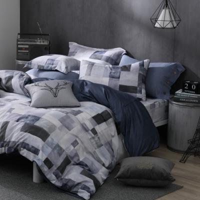 OLIVIA  Picasso 灰 特大雙人床包被套四件組 200織精梳純棉 台灣製
