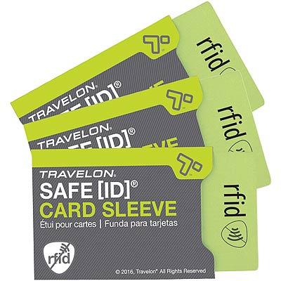 TRAVELON RFID防護卡套(灰3入)