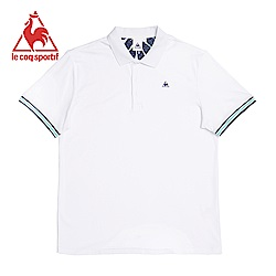 le coq sportif 法國公雞牌純瓷柔綿短袖POLO衫 男-白