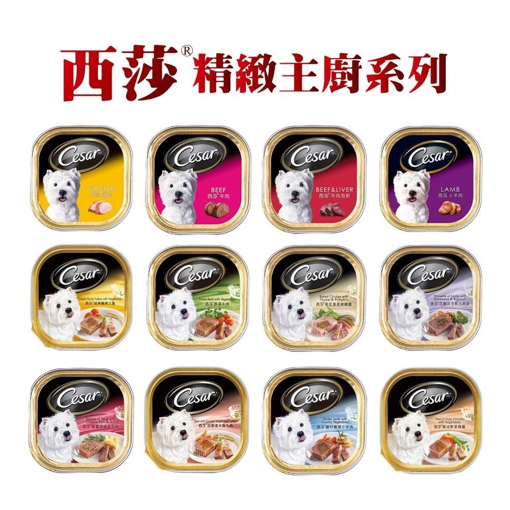 [12入組] Cesar 西莎餐盒 精緻/主廚風味 100g 混搭 寵物 犬餐 狗罐