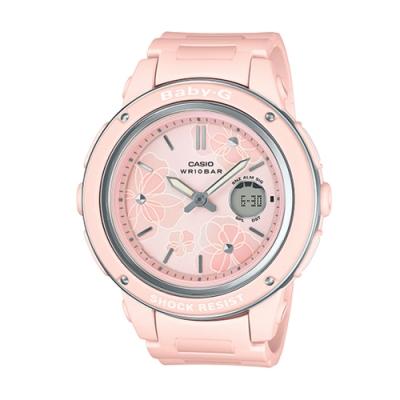 BABY-G-花仙子迷人大錶面設計休閒錶-粉(BGA-150FL-4A)/47.5mm