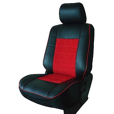 【葵花】量身訂做-汽車椅套-日式合成皮-賽車條紋B款-休旅車9人座款1-3排