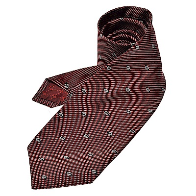 GUCCI 經典GG Guccissima緹花刺繡圖案絲質領帶(酒紅)